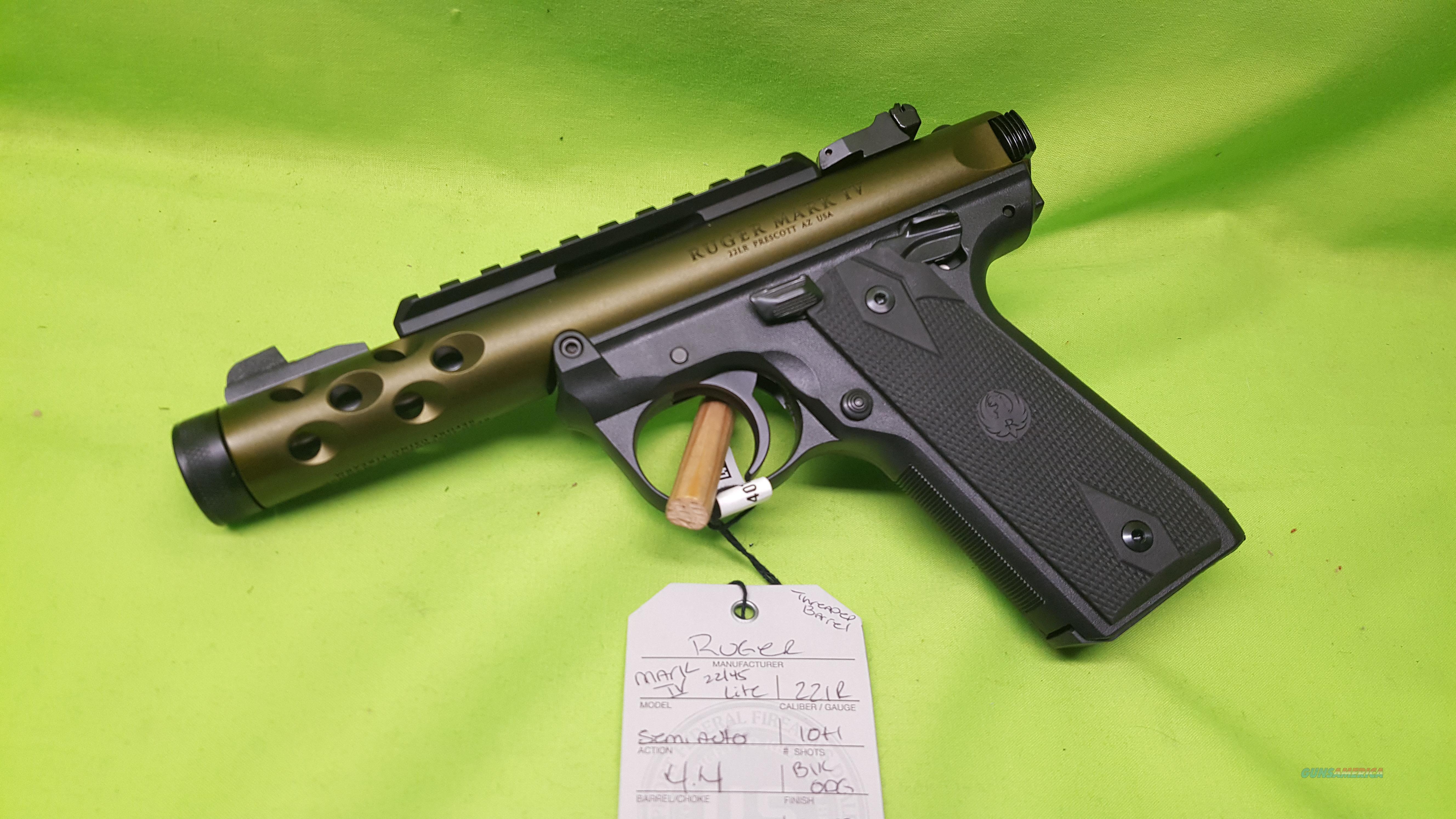 Ruger Mark Iv 22 45 22 45 Lite 22lr Odg Green For Sale