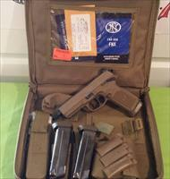 FN FNX .45 Tactical FDE 45 ACP THREADED BARREL 3 MAGS