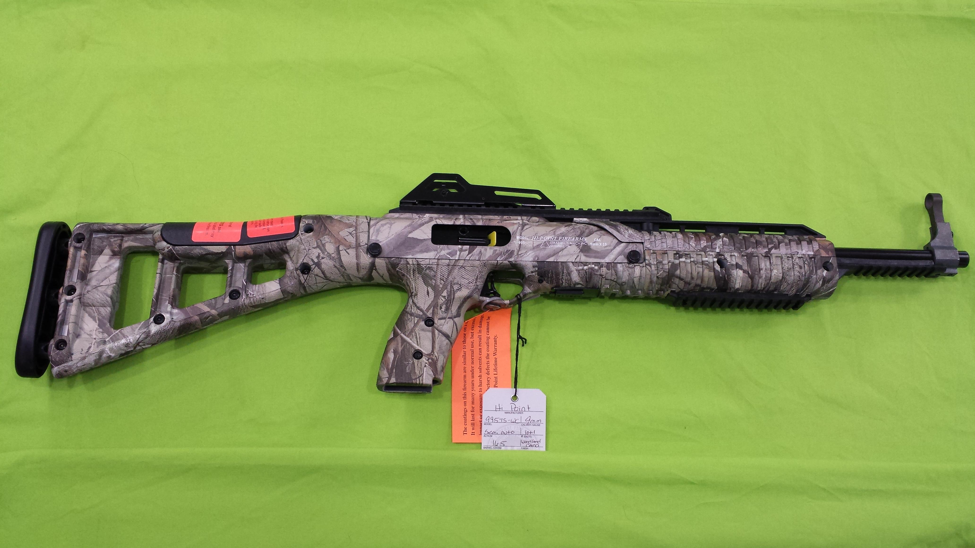 HI POINT 995TS WC 995 9 MM 9MM CARBINE WOODLAND CAMO RIFLE