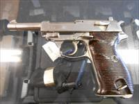 WALTHER P38 9MM CHROME PLATED.