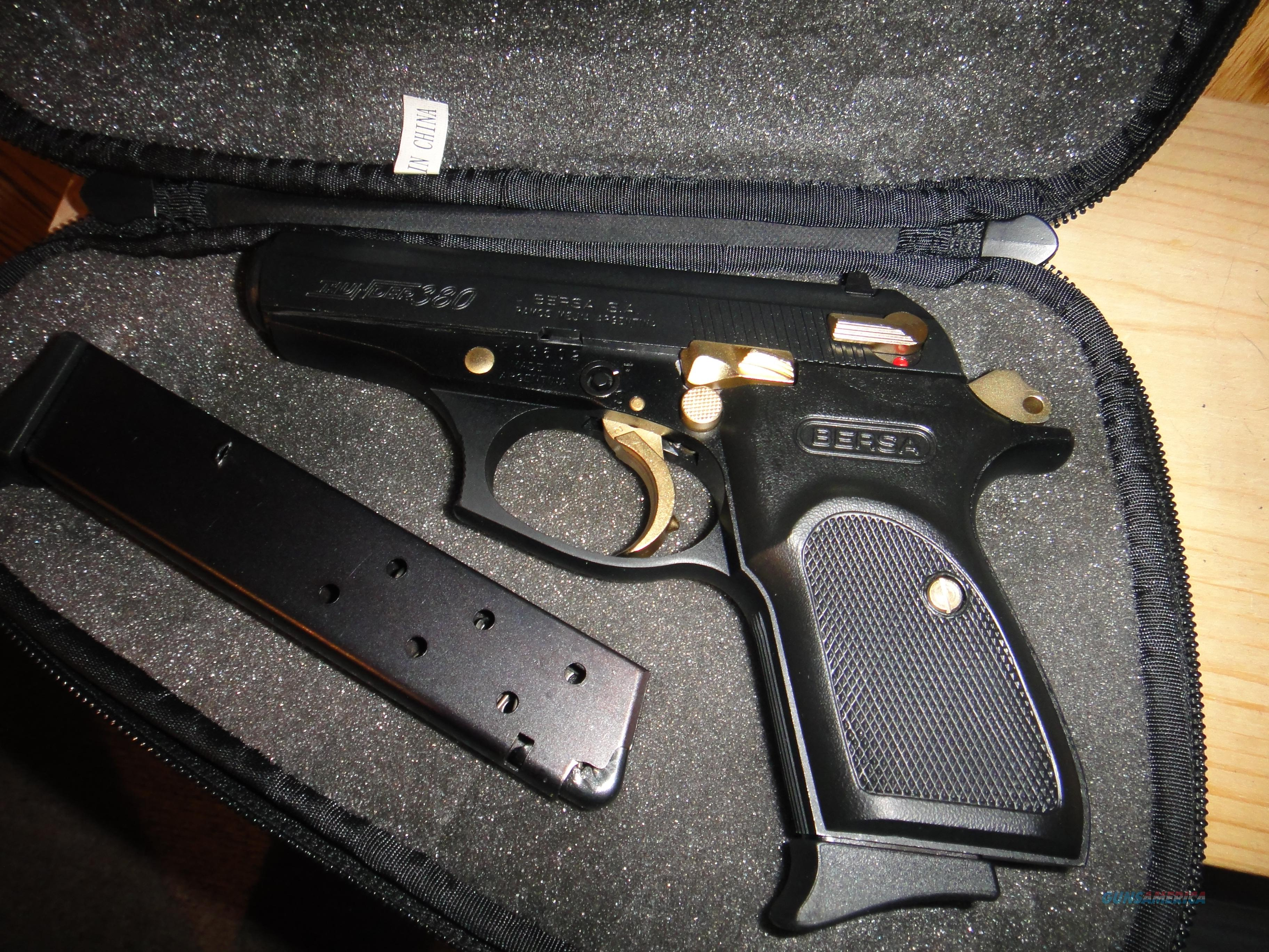 Bersa Thunder 380 Acp Special Gold And Black E For Sale