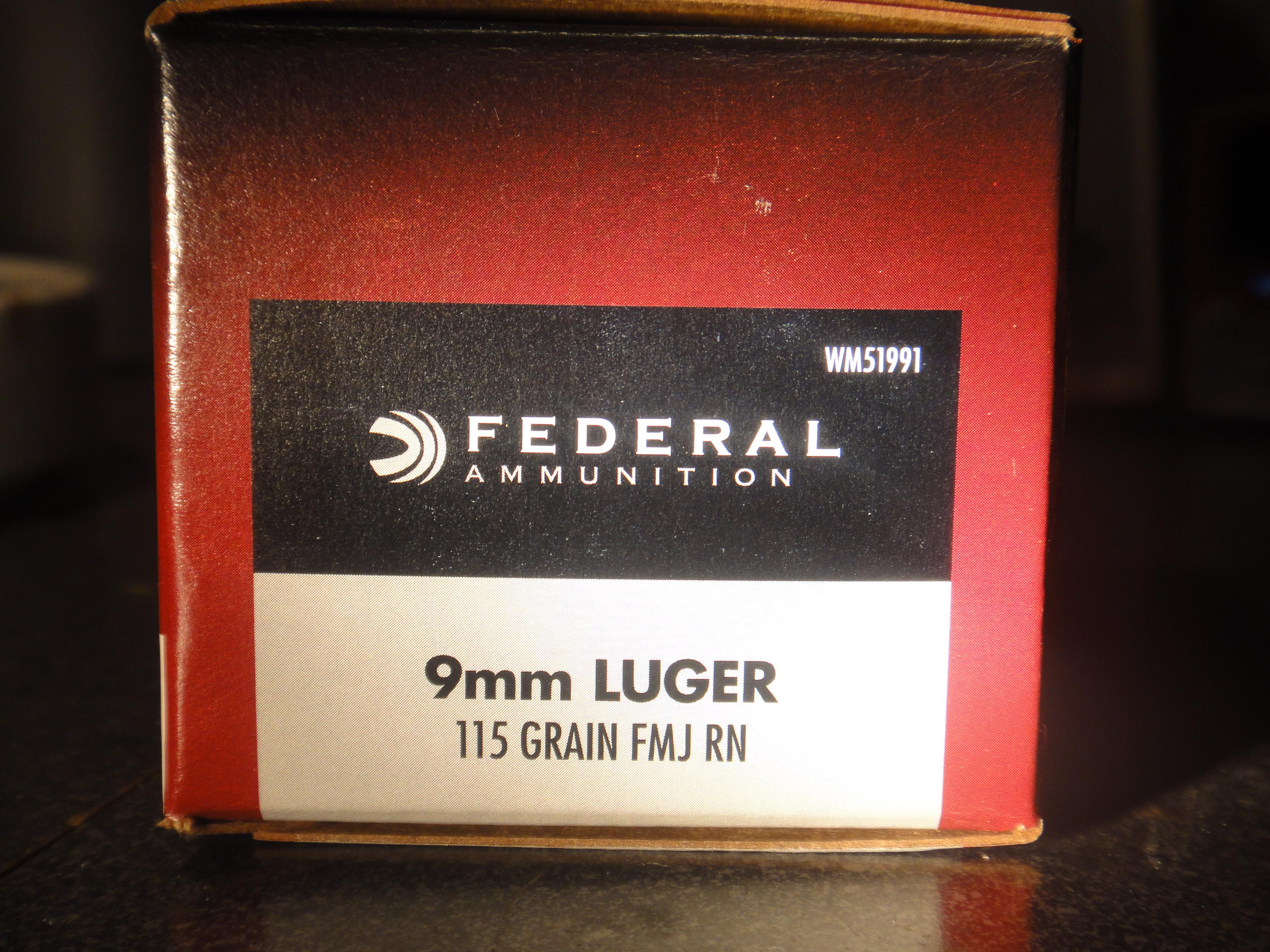Federal 9mm 100 round value pack