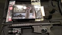 SWAT Firearms AR15 Pistol 5.56/.223 Billet Firearm W/Sig Tac Tactical Light & Laser