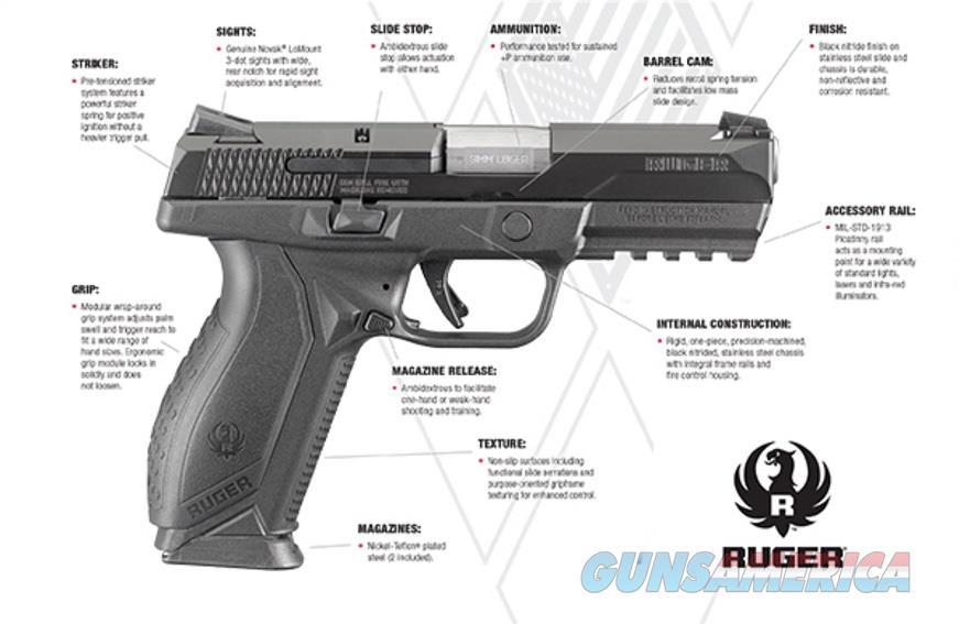 Ruger American Pistol 9mm 17 Round Black