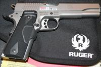 Ruger SR1911 Stainless Steel 45ACP With Crimson Trace Laser Grips