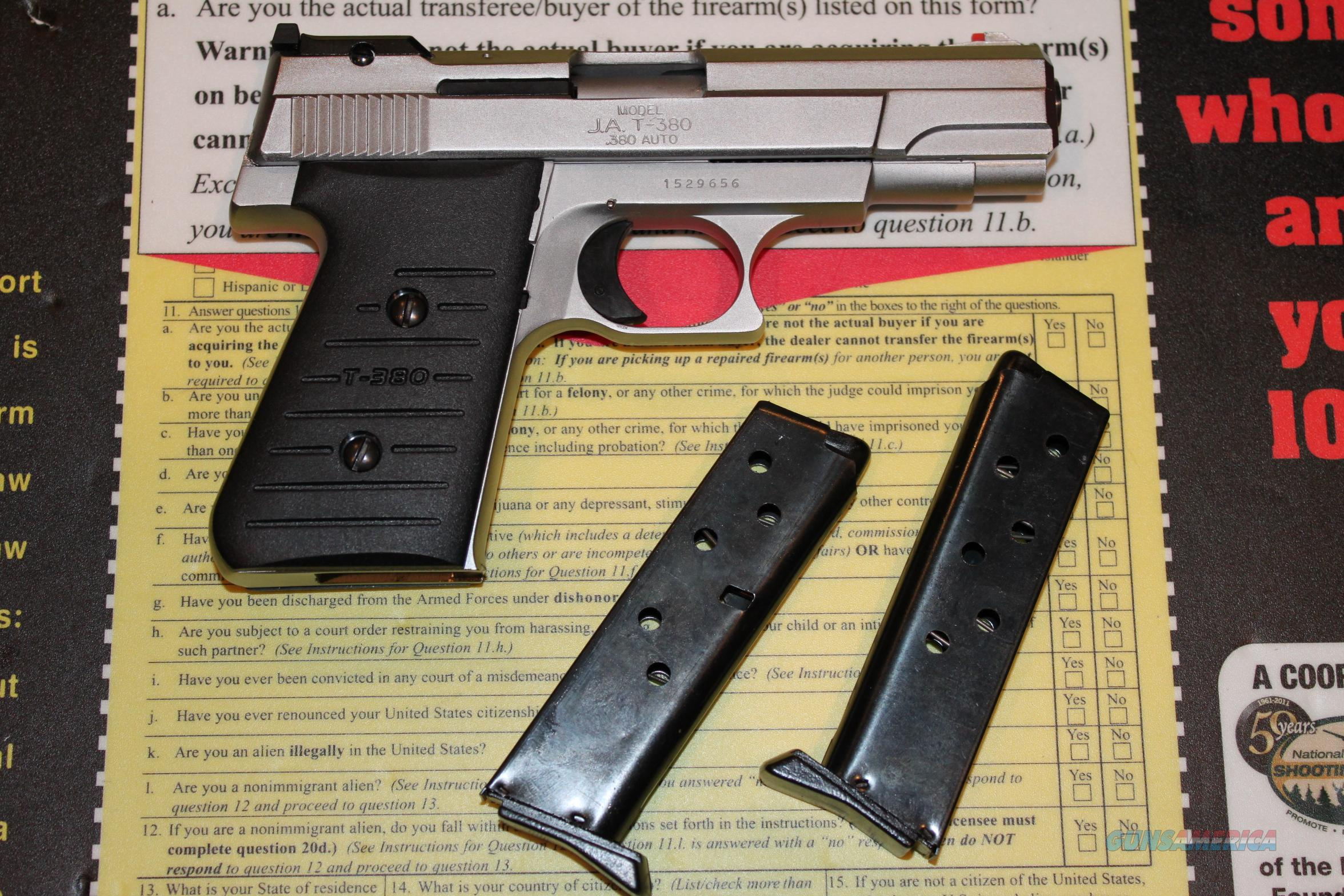 Jimenez Arms JA T-380 ACP Semi-Auto Pistol