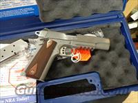 "COLT 1911 GOV. 5"" S.STEEL W/RAIL"