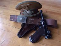 mauser S/42 luger rig captured with brown shirt hat political by 8th inf sarg
