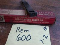 rem 600 rear sight + scope mount combo