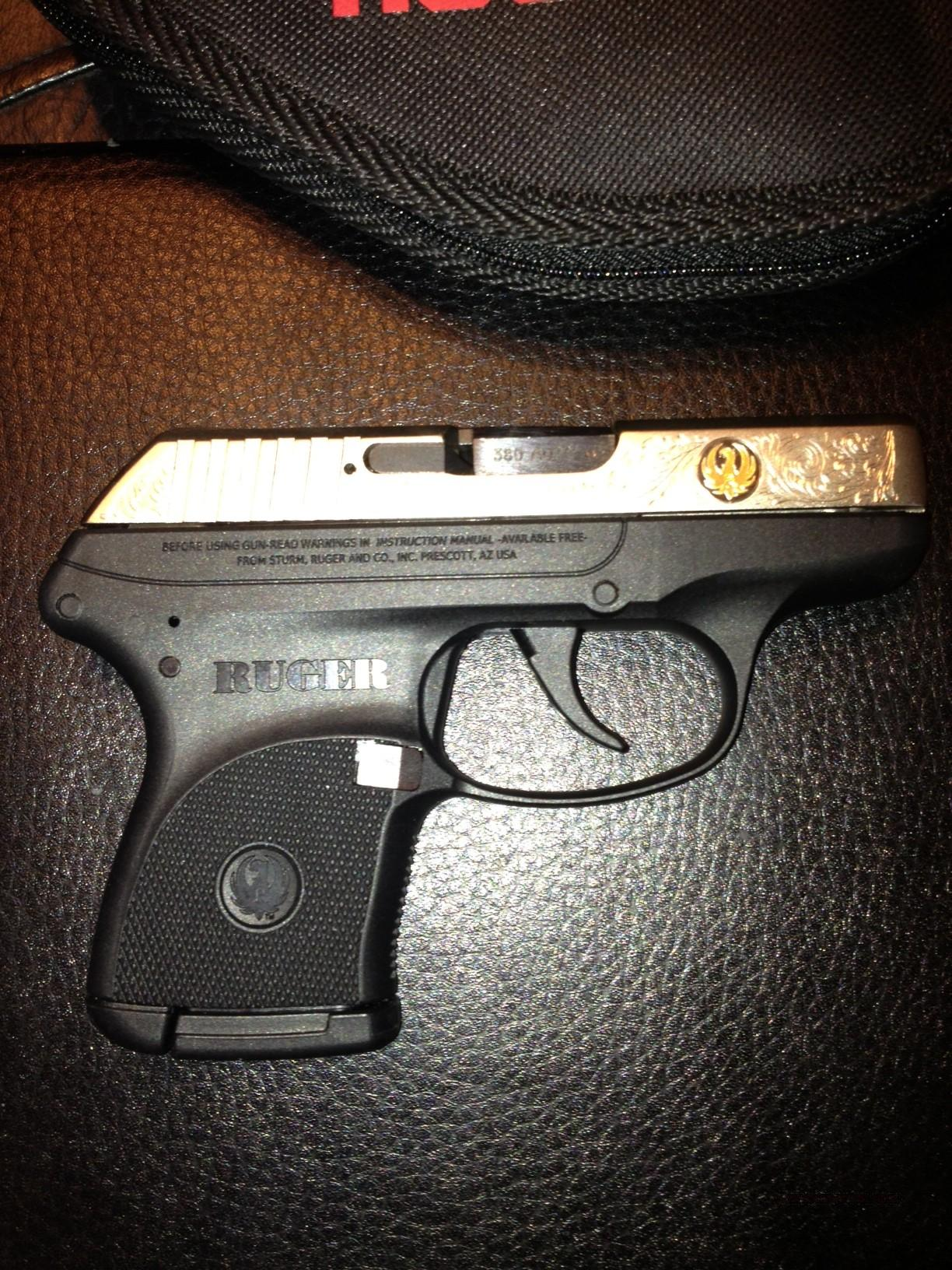 Ruger lc9 talo edition, laser etched nickel w/24 carat gold inlay.