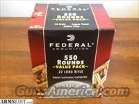 FEDERAL .22 LR AMMO 550 Rounds BRICK Hollow Point HP .22LR
