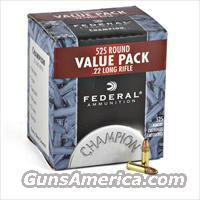 22 LR Ammo 525 Rounds Brick FEDERAL HP Copper Plated 22LR .22 Ammunition