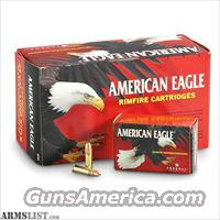 22 LR Ammo 400 Round Brick American Eagle Copper Plated Hollow Point