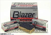 22LR Blazer Ammo 500 Rounds .22 22 Long Rifle .22LR Brick Ammunition