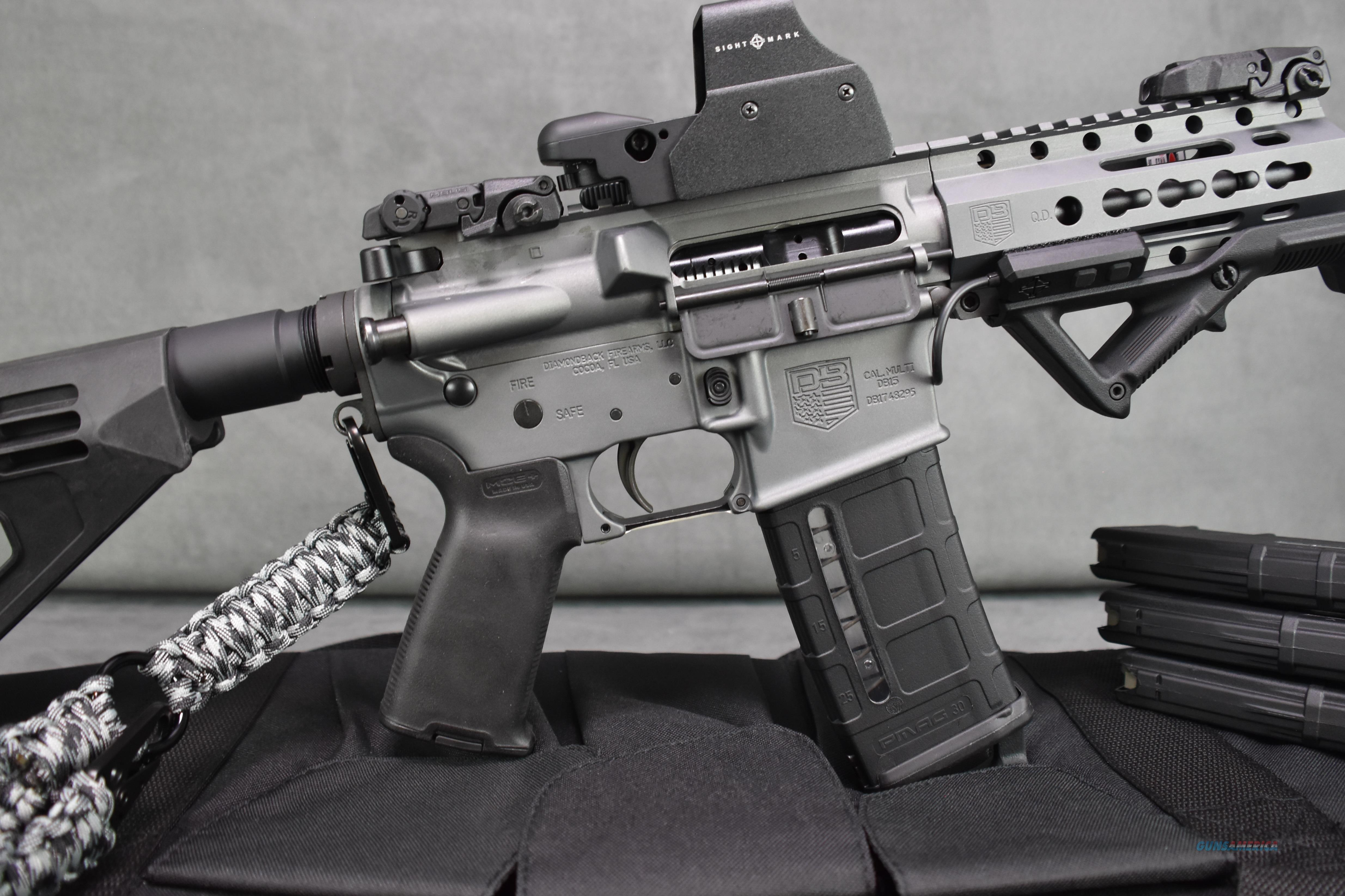Db15p Ar 15 Tactical Pistol In Gray New Upgrade For Sale