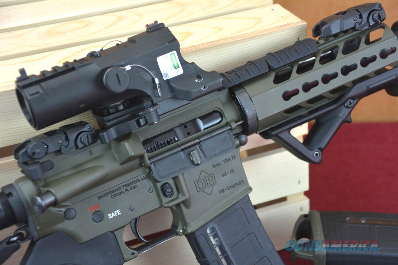 DB15P AR-15 Pistol OD Green Battle-Ready! AR15 Case Included!