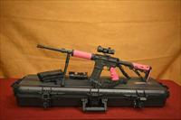 Pink AeroPrecision AR-15 SuperKit Hogue Free Float Rail