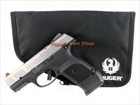 Ruger Model SR9C 9mm Stainless with Extended Mag & Pouch