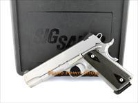 SIG Sauer Model 1911 .45 ACP Stainless Steel with Night Sights in Case with 1 Mag