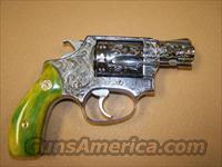 Smith and Wesson 60, 38 spl., Engraved, Custom Grips