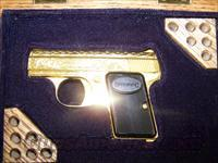 Baby Browning  24 Kt. Gold Engraved