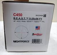 NIGHTFORCE B.E.A.S.T. 5-25X56 F1, i4F, MOA, BRAKE, MOAR, DIGILLUM, PTL