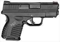 "Springfield XDS93345BE XD-S Essential 45 ACP DAO 3.3"" 5+1 Poly Grip/Frame Black"
