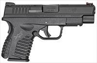 "Springfield Armory XDS94045BE XD-S Single Stack Double 45 Automatic Colt Pistol (ACP) 4"" 5+1/6+1 Black Polymer Grip/Frame Grip Black Melonite"