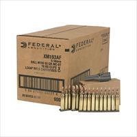 Lake City 55 gr. Military Ball 5.56mm Ammo. in stripper clips.
