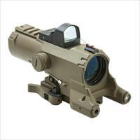 NC/Star 4x URBAN Tactical green laser scope, Desert Tan.