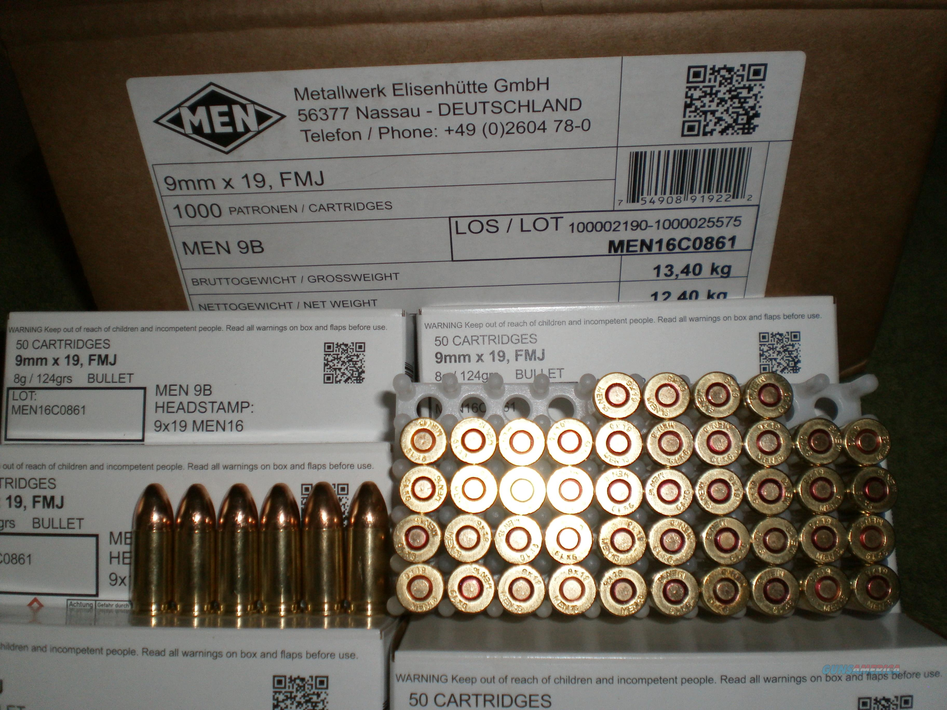 9mm Nato 124gr German Military Specs Ammo 2016 For Sale