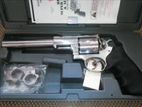 "RUGER SUPER REDHAWK 44MAG  7.5""BL 6SHOT 5501  W/RINGS, FREE SHIPPING NO CC FEE"