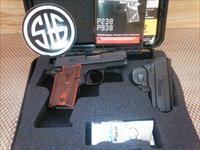 SIG SAUER P938 9MM  SIGLITE NIGHT SIGHTS  HOLSTER  1-6RD MAG   LNIB, FREE SHIPPING NO CC FEE (glock, beretta, smith)