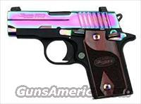 SIG SAUER P238 .380 ACP Special Edition Rainbow Titanium finish with Rosewood Grips 238-380-RBT