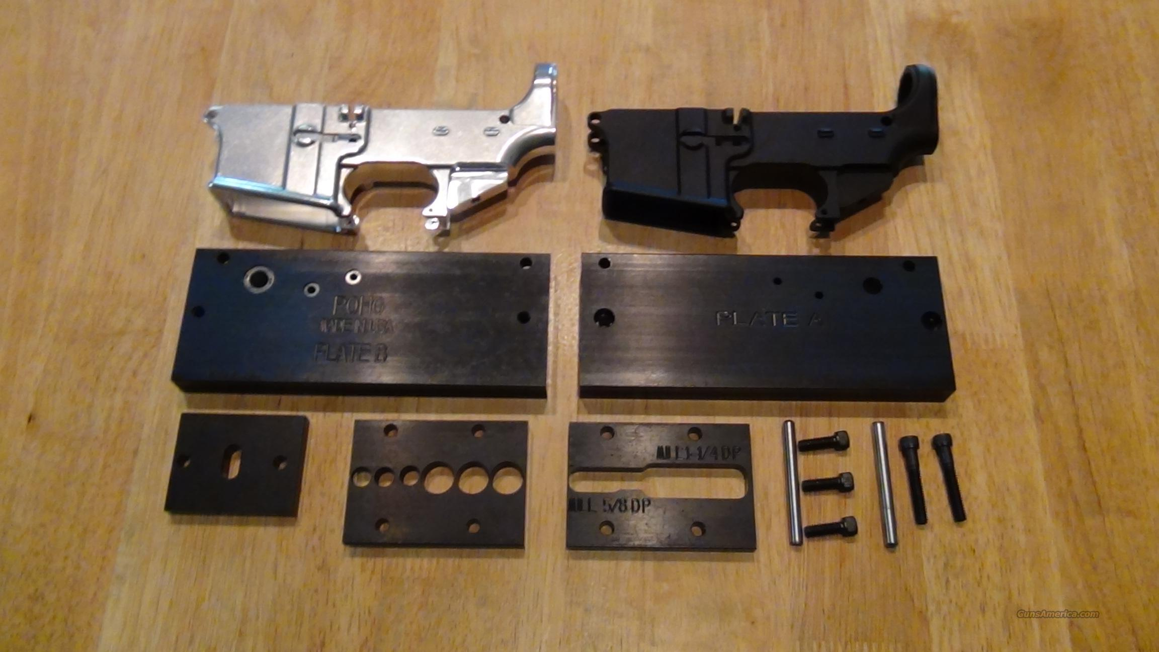 Two AR15 80% Lower Receiver and Drill Jig