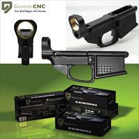 Complete Polymer 80% Lower Receiver Kit - Include Jig, Drill Bits, End Mill, & Fasteners
