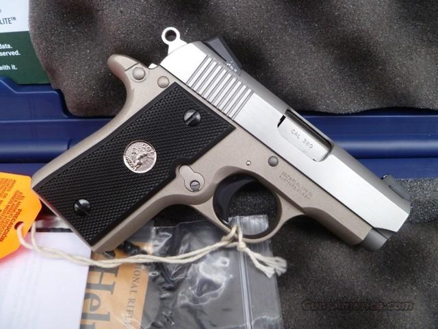 Colt Mustang 380 Acp Custom Shop Trijicon Novak For Sale