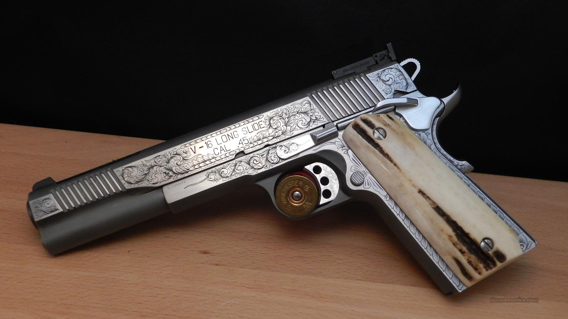 Custom Hand Engraved Springfield Armory 1911-A1... for sale M1911 Custom Slide
