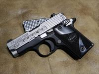 !! REDUCED !! Hand Engraved Sig Sauer P28 Blackwood with Free Engraved RTIC 20oz Stainless cup