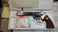 "Colt Python 6"" Stainless Steel w/Eliason rear sight"