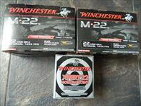 WINCHESTER M 22 AMMO 2500 ROUNDS RARE AND HARD TO FIND ALSO 22 EXPERT HOLLOW POINT