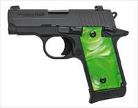 Sig P238 Black/Green Pearl .380ACP 238-380-GNB NEW + Black Grips