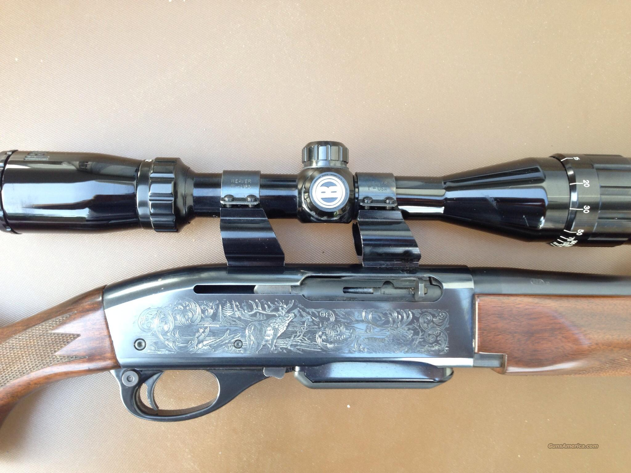 Remington 7400 Carbine Engraved