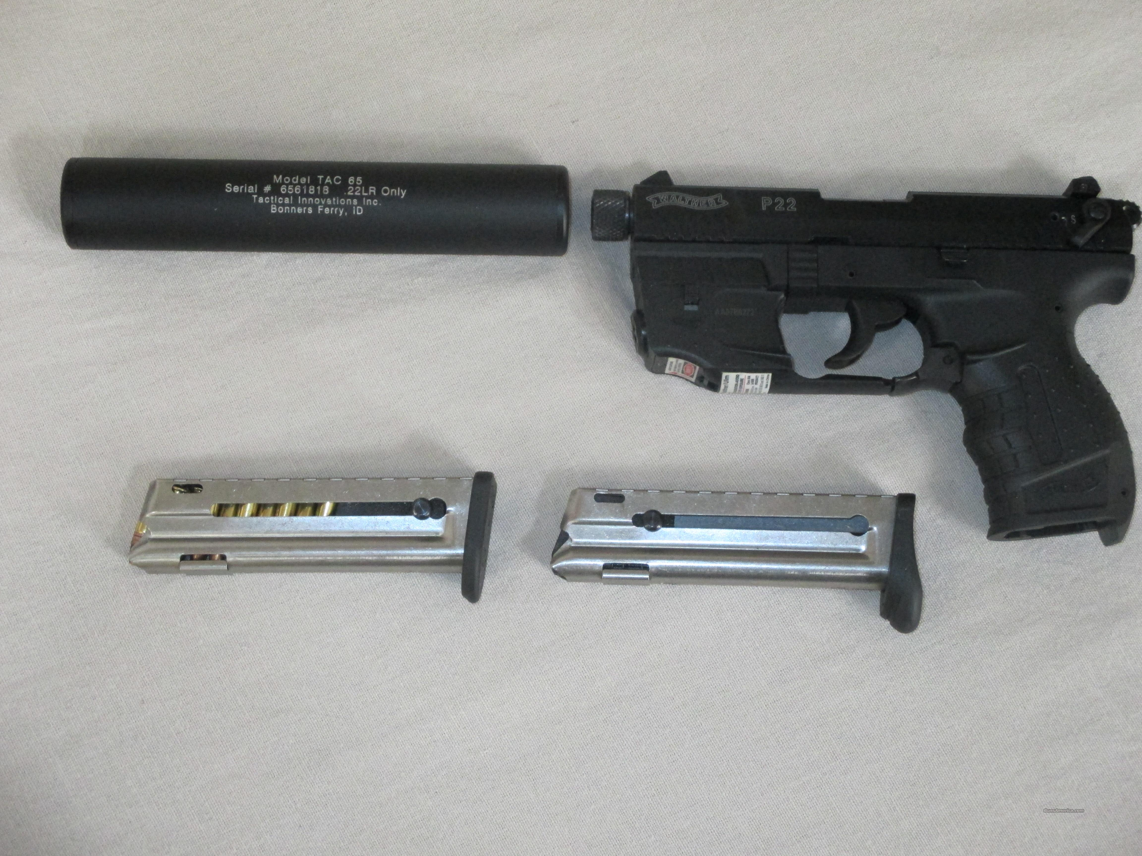 WALTHER P22 WITH LASER & SILENCER