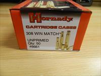Hornady 308 WIN Match cases Unprimed X50