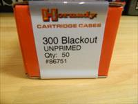 Hornady 300 Blackout cases Unprimed X50