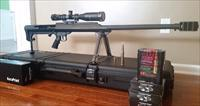 Barrett 50BMG brand new, never fired, custom ordered, Trijico, ammo, case