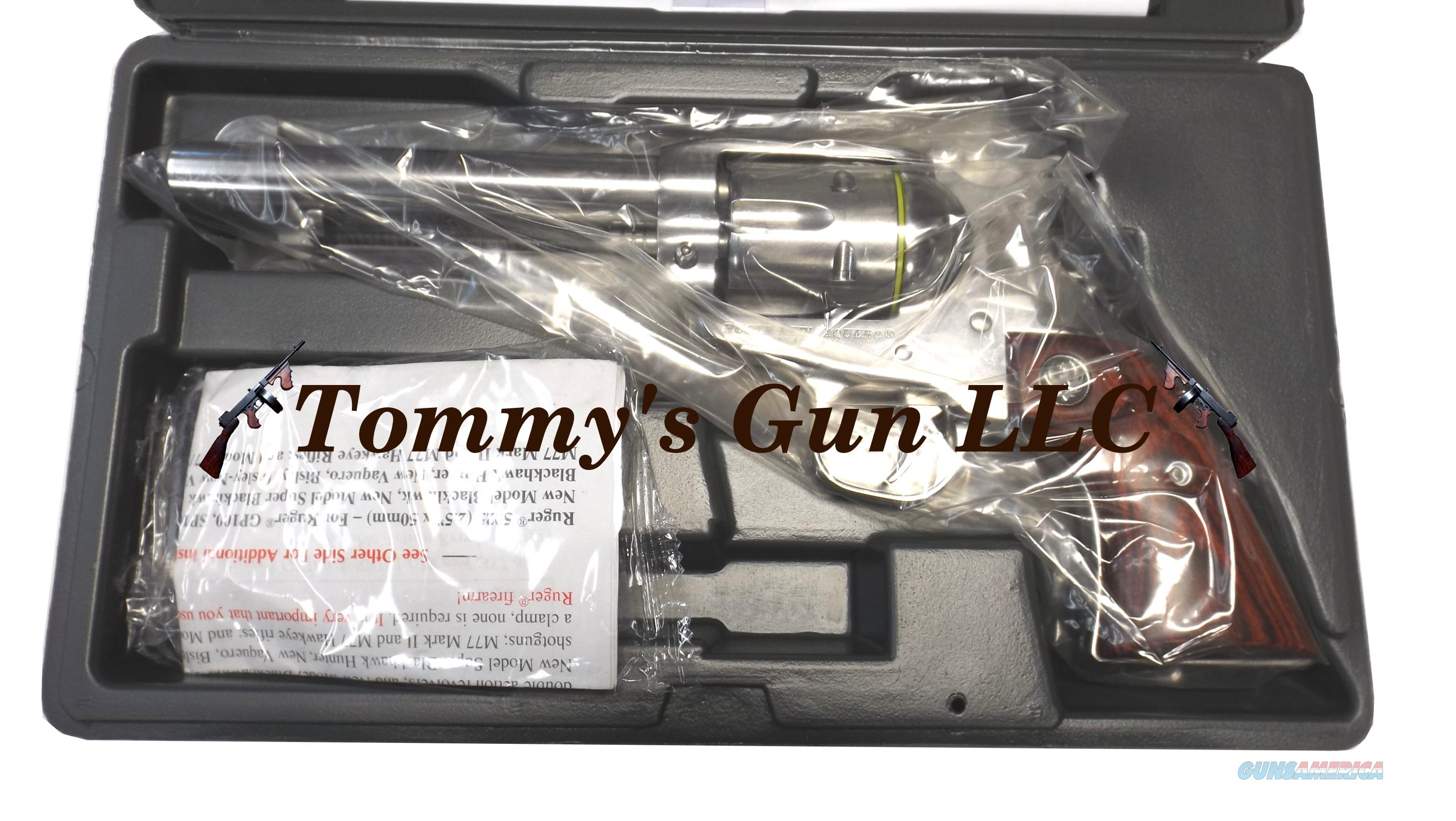 Ruger 5108 New Vaquero High-Gloss KNV-35 357 NEW