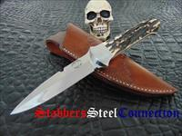 Jim Downs Custom Handmade Gorgeous Stag Fighter