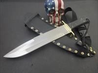 Roger A Parsons Custom Handmade Heavy Duty BEAST Fighting Survival Bowie